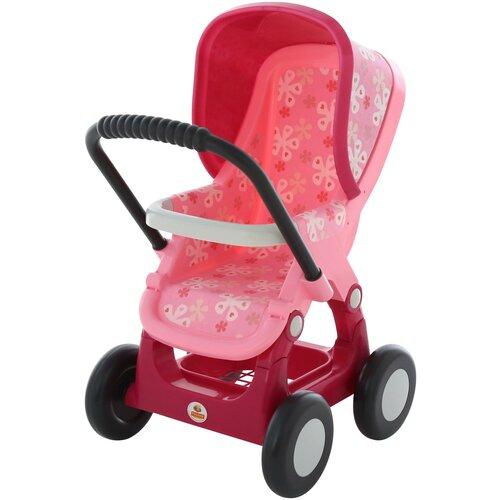 Прогулочная коляска Полесье №2, 4 колеса (48158) разноцветный, Коляски для кукол  - купить со скидкой
