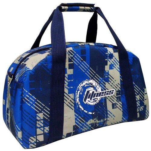 Спортивная сумка 5997 синяя клетка