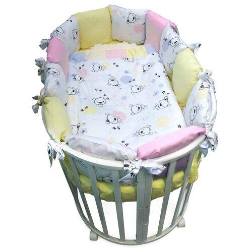 Фото - Сонный Гномик комплект Конфетти с бортиками-подушками (6 предметов) нежно-розовый комплекты в кроватку сонный гномик конфетти 6 предметов