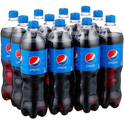 Фото - Газированный напиток Pepsi, 1 л, 12 шт. pepsi напиток низкокалорийный вкус манго 0 5 л pepsi