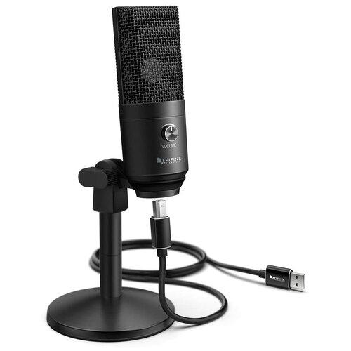 Конденсаторный студийный USB-микрофон FIFINE K670B (черный)