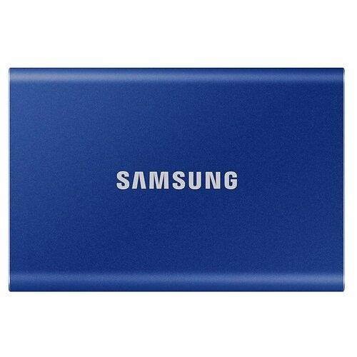 Фото - Внешний SSD Samsung T7 500 GB, синий внешний ssd hp p500 500gb 7pd54aa 500 gb синий