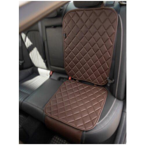 Чехлы (накидки) под автокресло. Защита сидений авто. Цвет: шоколадный. 1 шт. РОМБ