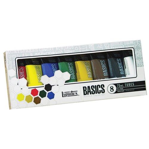 Liquitex Набор красок акриловых Basics, 8 цветов, 75 мл (101008) недорого