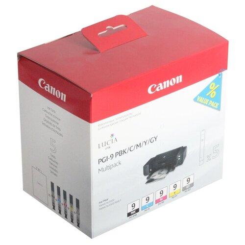 Фото - Набор картриджей Canon PGI-9 PBK/C/M/Y/GY (1034B013) набор картриджей canon pgi 29 mbk pbk dgy gy lgy co для pro 1 4868b018