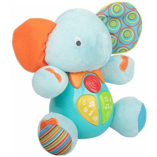Интерактивная развивающая игрушка Winfun Слон (O689), голубой