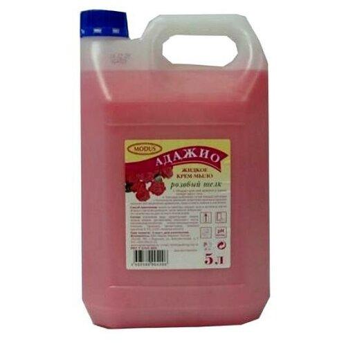 Крем-мыло жидкое Адажио Розовый шелк, 5 л недорого