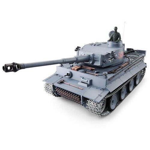 Фото - Радиоуправляемый танк Heng Long Tiger I UpgradeA V6.0 2.4G 1/16 RTR радиоуправляемый танк heng long радиоуправляемый мини танковый бой cs toys 9819