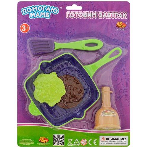 Купить Набор продуктов с посудой ABtoys Помогаю маме PT-00397, Игрушечная еда и посуда
