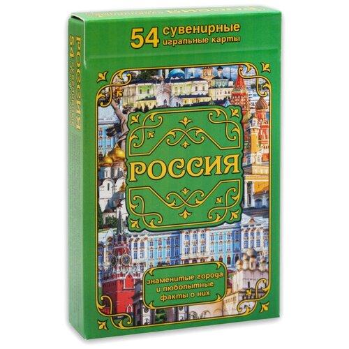 MILAND игральные карты Россия. Города и факты 54 шт. разноцветный