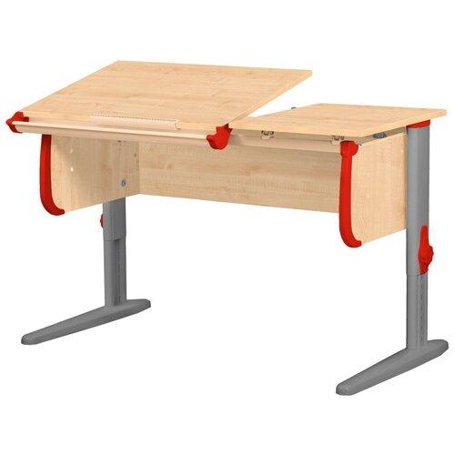 Фото - Стол детский ДЭМИ СУТ 25 120x55 см клен/красный/серый стол дэми white double сут 25 01д 120x82 см клен зеленый бежевый