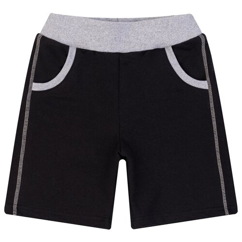 Купить Шорты для мальчика 409/1, Утенок, рост 86 см, черный, Брюки и шорты