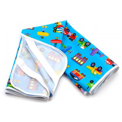 Наматрасник Multi Diapers Машинки, непромокаемый, 60х120 см синий наматрасник multi diapers непромокаемый из микрофибры с рисунком 60х120 см лисы