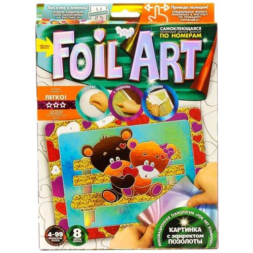 Danko Toys Аппликация цветной фольгой Foil Art по номерам Медвежата (FAR-01-08) danko toys аппликация цветной фольгой foil art заяц far 01 07