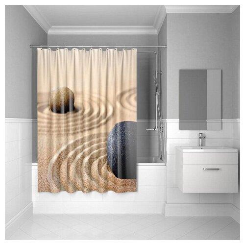Фото - Штора для ванной IDDIS 640P18Ri11 180x200 Sandy штора для ванной iddis 680p18ri11 180x200 зеленый черный