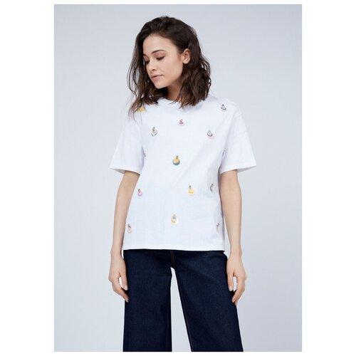 Фото - Футболка Zarina, размер 42(XS), белый джинсы zarina 0328465765 101