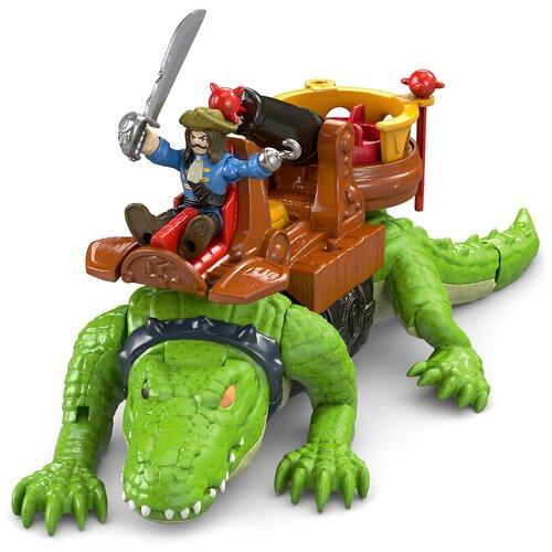 Купить Игровой набор Imaginext Капитан Крюк и крокодил DHH63, Игровые наборы и фигурки