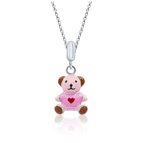UMa & UMi Детский серебряный кулон подвеска Мишка с сердцем UMI Pets 319556300611