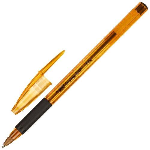 Ручка шариковая BIC Orange grip fine 811925 рез.манжет черный 0.3 мм 5 штук