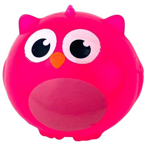 Игрушка-мялка Город Игр Сова розовый