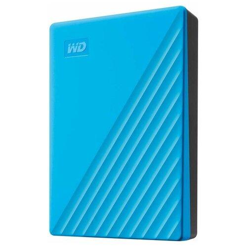 Внешний HDD Western Digital My Passport (WDBYVG/WDBPKJ) 4 TB, голубой внешний hdd western digital my passport ultra wdbc3 wdbft 1 tb серебристый