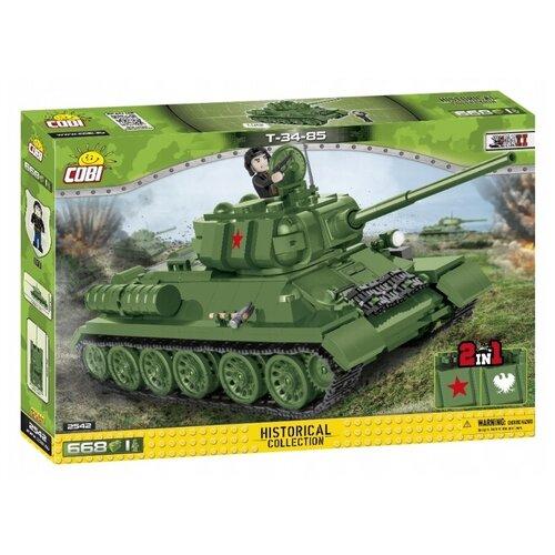 Фото - Конструктор Cobi Small Army World War II 2542 Советский танк Т-34-85 конструктор cobi small army world war ii 2188 амфибия vw typ 166 schwimmwagen