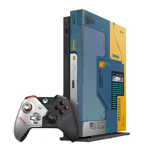 Игровая приставка Microsoft Xbox One X 1 ТБ Cyberpunk 2077 Limited Edition, Cyberpunk 2077, Cyberpunk 2077 Limited Edition + Game Pass Ultimate Trial 1 месяц