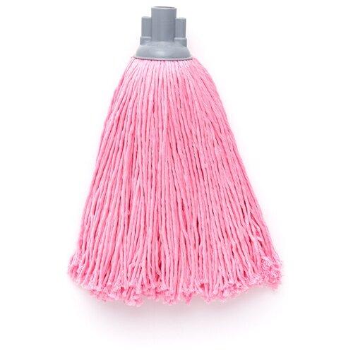 Насадка для швабры с резьбой верёвочная микрофибра розовый 150г насадка для швабры homequeen еврокласс цвет розовый