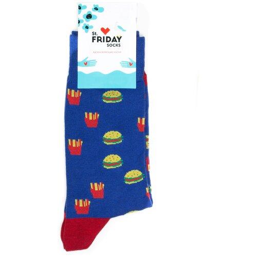 Носки с бургерами и картошкой фри St.Friday Socks 34-37