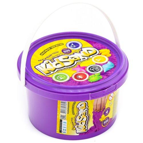 Купить Кинетический песок Danko Toys KS-01-02, фиолетовый, 0.5 кг, пластиковый контейнер