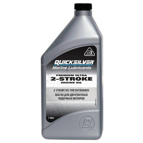 Минеральное моторное масло Quicksilver 2-stroke Premium Ultra TCW3, 1 л
