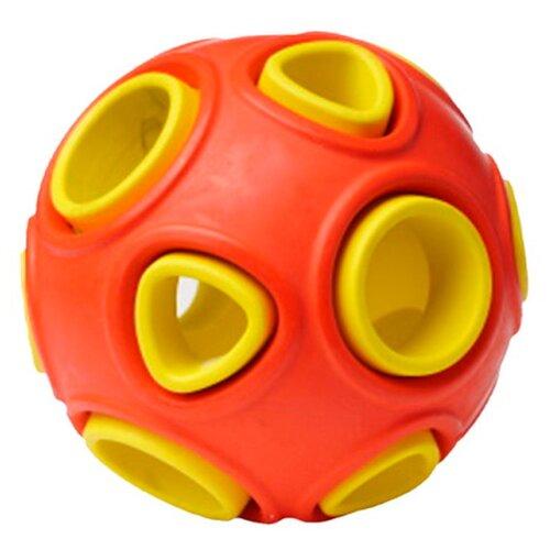 Игрушка для собак Homepet Silver Series мяч каучук красно-желтый 7,5 см (1 шт)