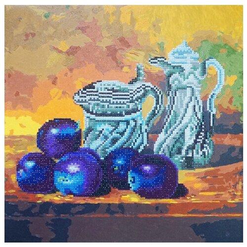 Фото - Color Kit Набор алмазной вышивки-раскраска Натюрморт со сливами (RF006) 40х40 см color kit набор алмазной вышивки с часовым механизмом две стихии 7303013 30х30 см