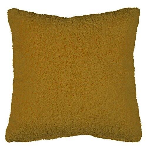 Подушка 40х40см декоративная, шерпа цвет верблюжьей шерсти Бельвита