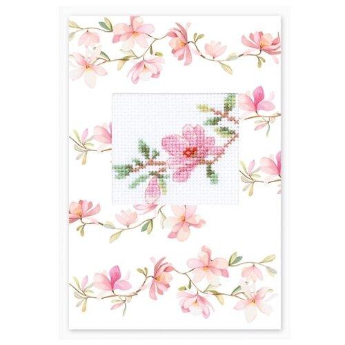 Фото - Luca-S Набор для вышивания открытки Розовая магнолия 10 х 14 см ((S)P-84) набор для вышивания luca s s p 84 набор для изготовления открытки розовая магнолия
