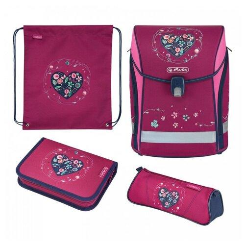 Купить Herlitz Ранец Midi Plus Heart, розовый, Рюкзаки, ранцы