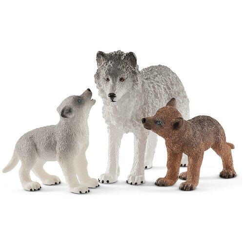 Фигурки Schleich Волчица с волчатами 42472, Игровые наборы и фигурки  - купить со скидкой