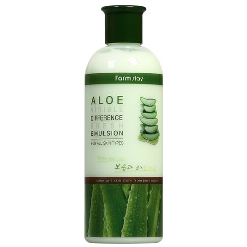 Фото - Farmstay Visible Difference Fresh Emulsion Aloe Увлажняющая эмульсия для лица с экстрактом алоэ, 350 мл эмульсия для лица с экстрактом алоэ aloe visible difference fresh emulsion 350мл