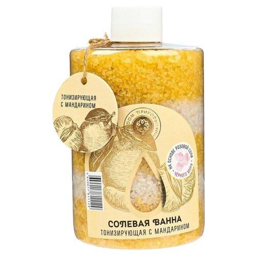 Купить Дом Природы Соль морская для ванн Тонизирующая с мандарином, 400 г