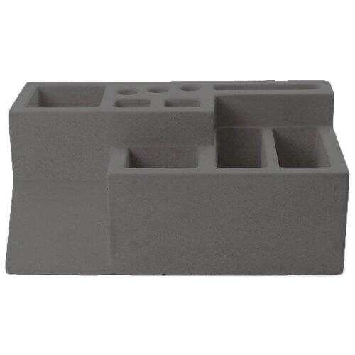 Органайзер для канцелярских принадлежностей бетонный, М1, антрацит