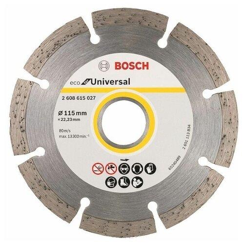 Фото - Диск алмазный отрезной BOSCH Eco for Universal 2608615027, 115 мм 1 шт. диск алмазный отрезной bosch standard for ceramic 2608602201 115 мм 1 шт