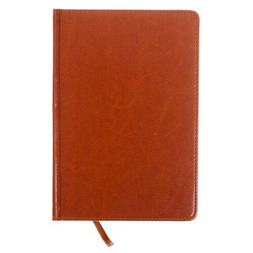 Ежедневник Calligrata 172283 полудатированный, искусственная кожа, А5, 193 листов, коричневый по цене 600