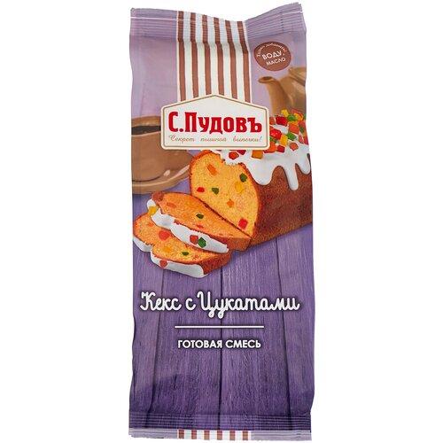 Фото - С.Пудовъ Мучная смесь Кекс с цукатами, 0.4 кг с пудовъ мучная смесь печенье имбирное с цукатами 0 4 кг