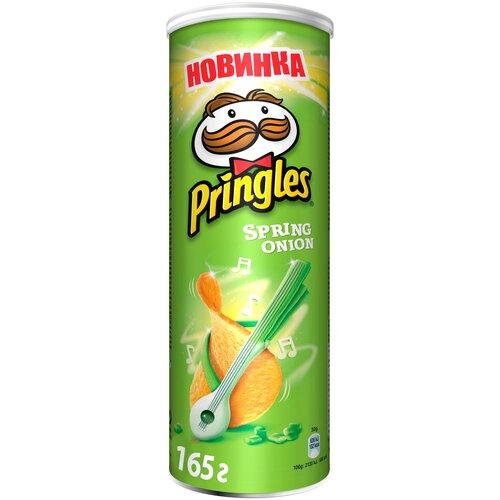 Чипсы Pringles картофельные Spring onion, 165 г чипсы pringles картофельные spring onion 165 г