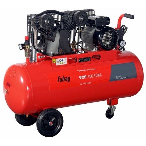 Компрессор масляный Fubag VCF/100 CM3, 100 л, 2.2 кВт компрессор fubag vcf 100 сm3 440л мин 100л 10бар 2 2квт 220в