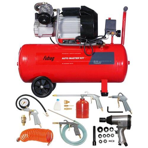 Фото - Компрессор масляный Fubag Auto Master Kit, 50 л, 2.2 кВт компрессор безмасляный fubag paint master kit 6 л 1 1 квт