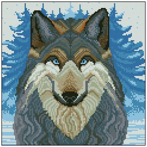 Алмазная мозаика Алмазная Фея 0076. Волк