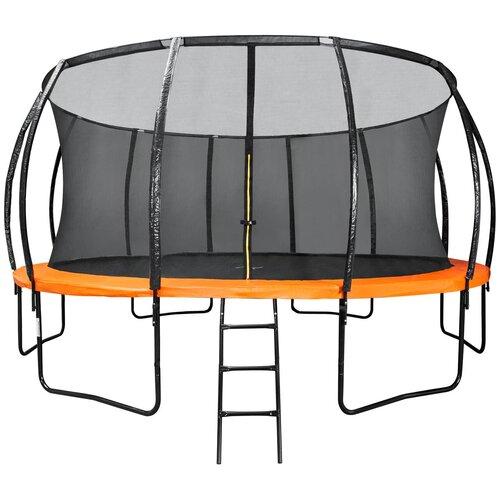 Фото - Каркасный батут DFC Trampoline Kengoo II 16FT-BAS-BO оранжевый каркасный батут dfc trampoline kengoo ii 16ft bas bo оранжевый
