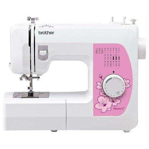 Фото - Швейная машина Brother Hanami 17, бело-розовый швейная машина brother hanami 17 бело розовый