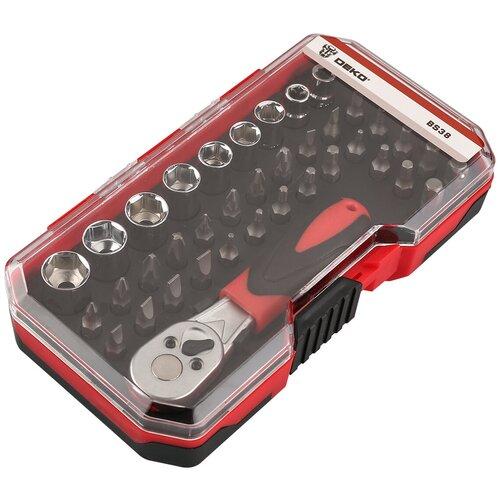 Фото - Набор инструментов DEKO BS38 065-0719, 38 предм., черный/красный набор инструментов deko tz82 82 предм черный желтый